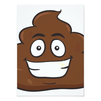 funny poop emoji card