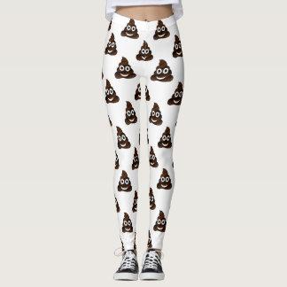 funny poop emoji leggings