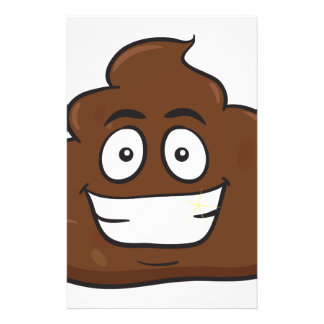 funny poop emoji stationery
