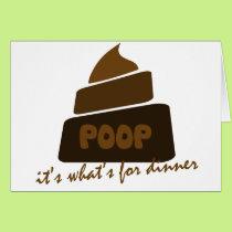Funny Poop Joke Card