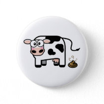 Funny Pooping Cow Button