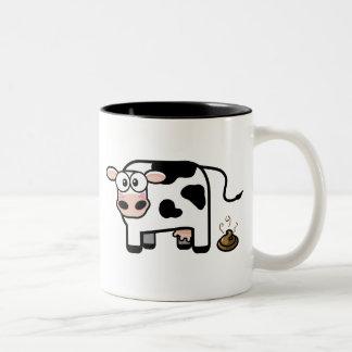 Funny Pooping Cow Mug