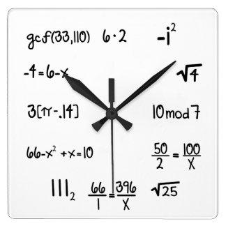 Funny Pop Quiz Math Genius Square Wall Clock