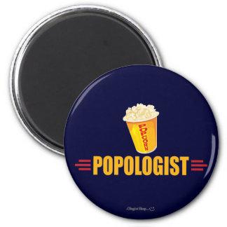 Funny Popcorn 2 Inch Round Magnet