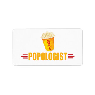 Funny Popcorn Label