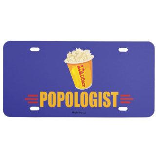Funny Popcorn License Plate