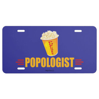 Funny Popcorn License Plate