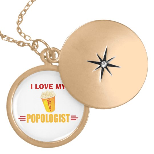 Funny Popcorn Locket Necklace