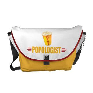 Funny Popcorn Messenger Bag