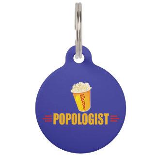 Funny Popcorn Pet Name Tag