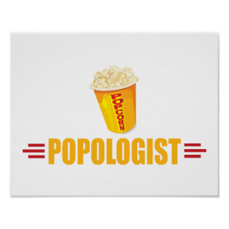 Funny Popcorn Poster