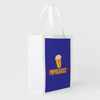 Funny Popcorn Reusable Grocery Bag
