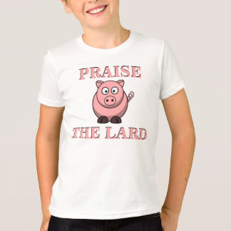 Funny Pork Bacon Praise the Lard Piggy T-Shirt