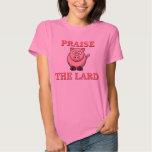 Funny Pork Bacon Praise the Lard Pink Piggy Tee Shirt