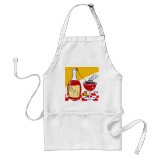 Funny Port Wine Lovers Clever Witty Cartoon Adult Apron