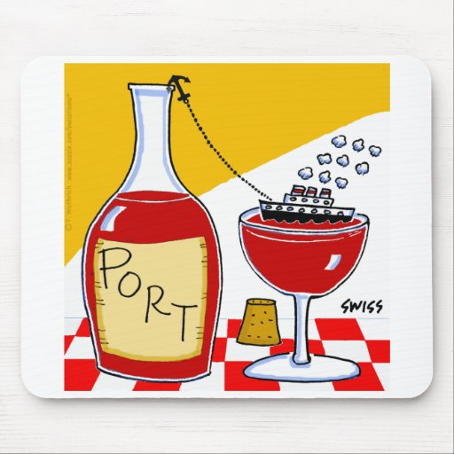 Funny Port Wine Mouse Pad