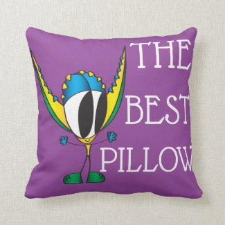 Funny, Positive, Cute Cartoon | Add Your Message Throw Pillow