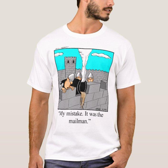 Funny Postal Mailman T Shirt Zazzle Com