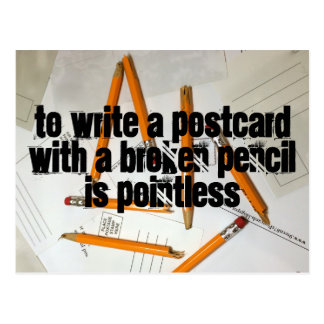 Funny Postcard, Pointless Pencil, Pun Postcrossing Postcard