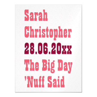 Funny Postcard Size Wedding Save the Date Custom