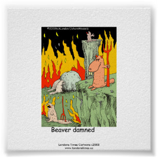 Funny Poster: Beaver Dammed Poster