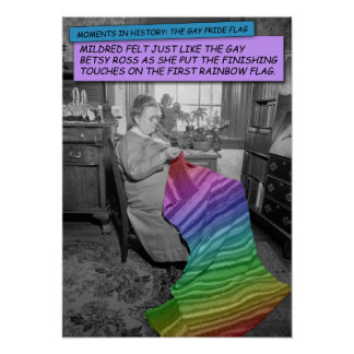 Funny Poster - Mildred, the Gay Betsy Ross