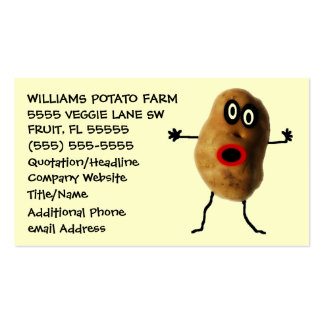 Funny Potato Farmer Advertising Business Card