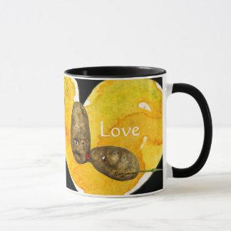 Funny Potatoes in Love / Heart Mugs