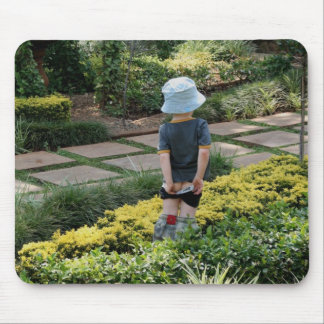 Funny Potty Garden Mouse Pad