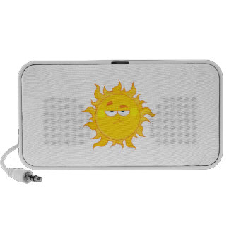 funny pouting sun cartoon speaker