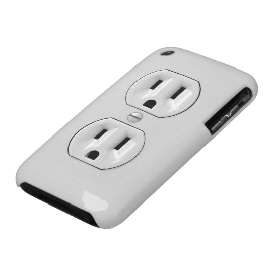 Funny Power Outlet iPhone 3 Case