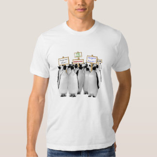 Funny Power to the Penguins T-shirt
