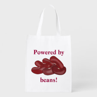 Funny Powered by Kidney Beans Vegetarian or Vegan Market Totes