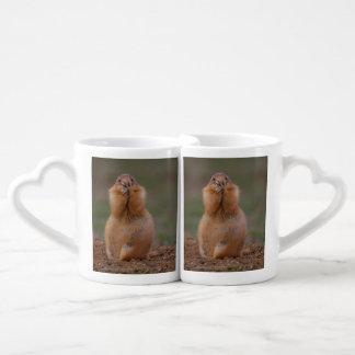 funny prairie dog coffee mug set