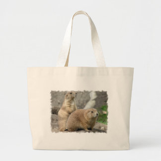 Funny Prairie Dogs Canvas Tote Bag