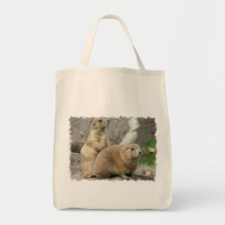 Funny Prairie Dogs Grocery Tote Bag
