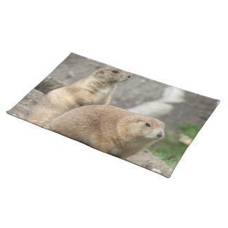 Funny Prairie Dogs Placemat Cloth Placemat