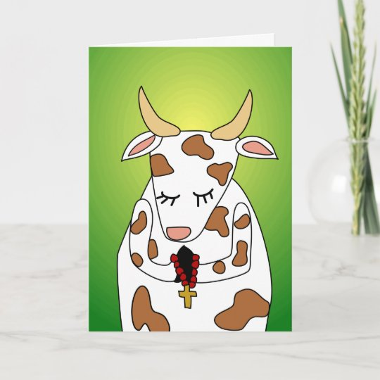Funny Praying Holy Cow Old Age Humor Birthday Card Zazzle