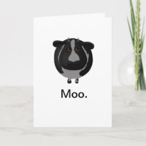 Funny Pregnancy Announcement Cards with Cows