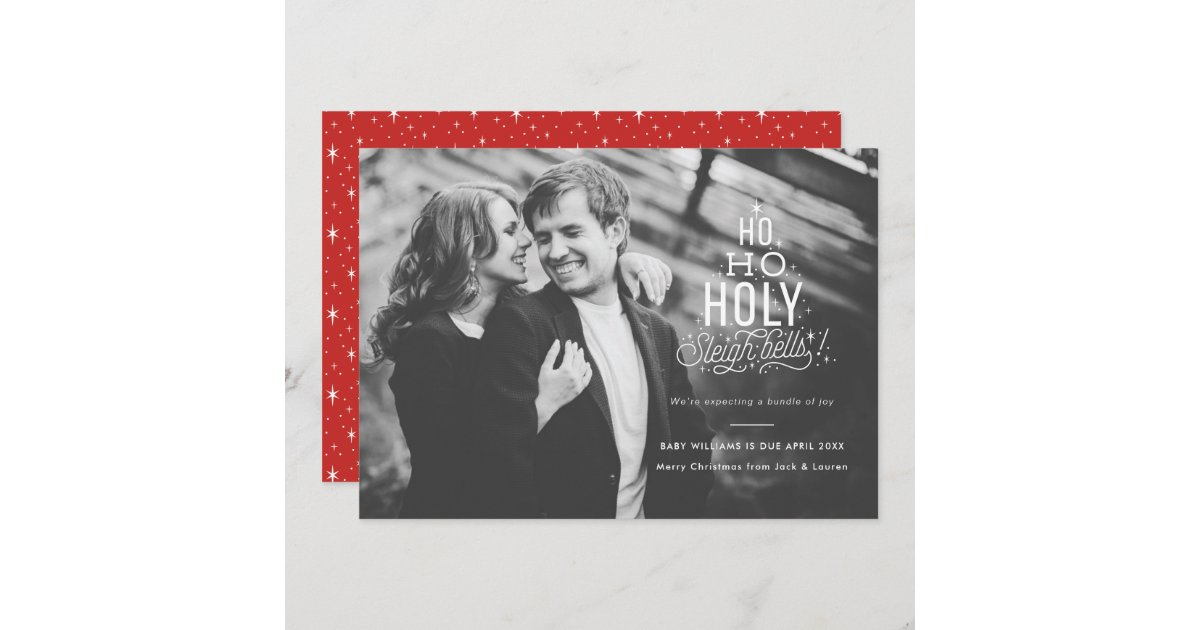 Funny Pregnancy Announcement Holiday Card | Zazzle.com
