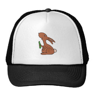Funny Pregnant Brown Bunny Rabbit with Pickle Trucker Hat
