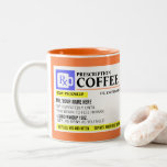 "Funny Prescription Coffee Mug<br><div class=""desc"">Add a name to this funny ""prescription"" coffee mug for a perfectly unique gift idea! Or,  fill your own prescription for a little something for yourself.</div>"
