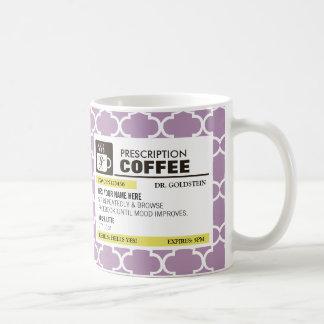 Funny Prescription Coffee Mug - Quatrefoil Pattern