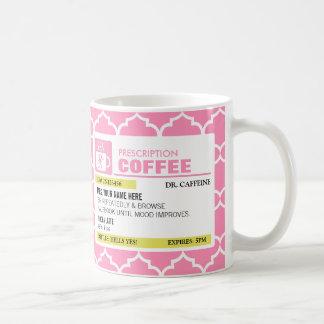 Funny Prescription Coffee Mug with Monogram
