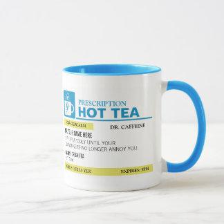 Funny Prescription Hot Tea - Light Blue Mug