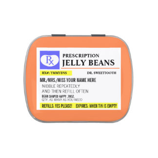 Funny Prescription Jelly Bean Jelly Belly Tins