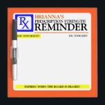 """Funny Prescription Label Dry-Erase Board<br><div class=""""desc"""">Funny prescription label dry erase board to jotting down all those things you just *can&#39;t forget*</div>"""