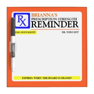 Funny Prescription Label Dry-Erase Board