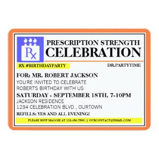 """Funny Prescription Label Party Invitations 5"""" X 7"""" Invitation Card"""