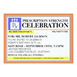 Funny Prescription Label Party Invitations